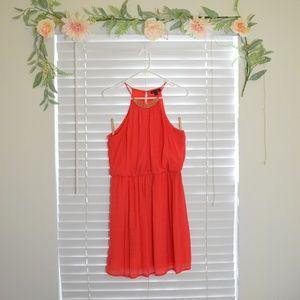 As U Wish – Orange Halter Dress
